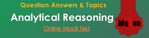 Analytical Reasoning Question Answers Mock Test
