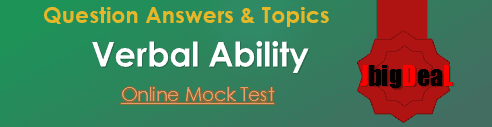 Verbal Ability & Logical Reasoning Question Answers