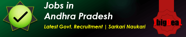 Latest Govt. Recruitment in Andhra Pradesh 2017