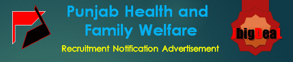 PB Health and Family Welfare Recruitment 2017 Application Form