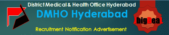DMHO Hyderabad Recruitment 2017 Application Form
