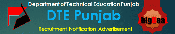 DTE Punjab Recruitment 2016 Online Application Form