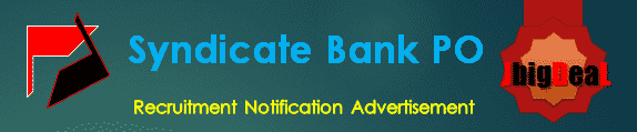 Syndicate Bank PO Recruitment 2016 Online Application Form