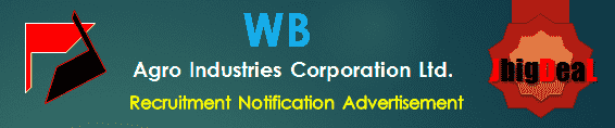 WB Agro Industries Corporation Ltd. Recruitment 2017 Online Application Form