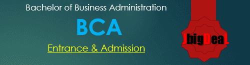BCA Entrance Exam 2020 - Admission