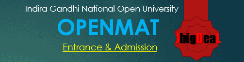 OPENMAT 2018 - IGNOU MBA Admission and Entrance 2018