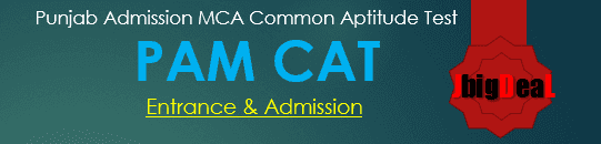 PAM CAT 2018 - MCA and MBA Admission 2018
