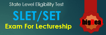 SET / SLET Exam Syllabus 2017 for Paper I, Paper II and Paper III