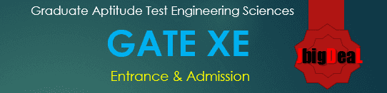 GATE XE Exam 2017 Engineering Sciences (XE)