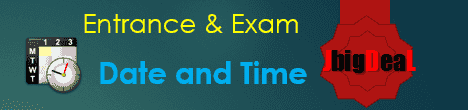 Exam schedule and Time Table