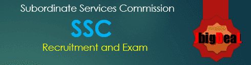 SSC Exam 2018-19 Subordinate Services Commission Exam