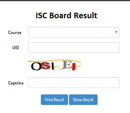 ISC Senior Secondary Results 2019