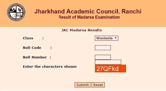 JAC Madarsa Board Result 2019