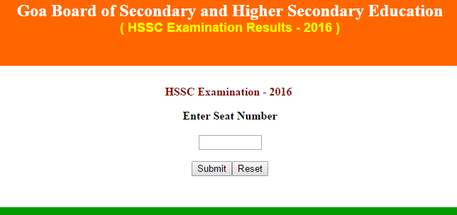 GBSHSE Class 12th Result 2017