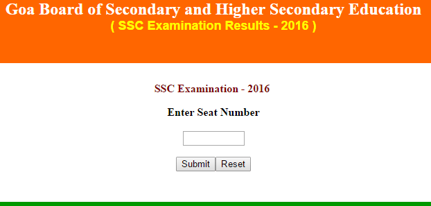 GBSHSE Goa Board SSC Result 2019