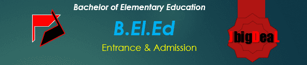 B.El.Ed Entrance & Admission 2018 Application Form