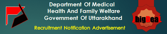 Department Of Medical Health And Family Welfare Government Of Uttarakhand Recruitment 2016 Application Form
