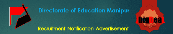 Directorate of Education Manipur Recruitment 2018 Application Form