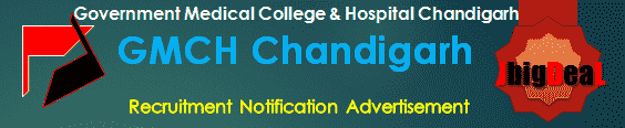 GMCH Chandigarh Recruitment 2018 Online Application Form