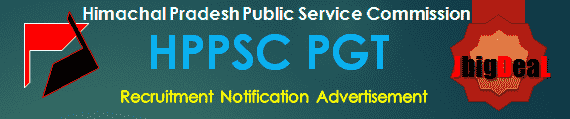 HPPSC PGT Recruitment 2016 Online Application Form