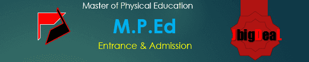 M.P.Ed Course Admission :