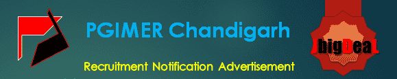 PGIMER Chandigarh Recruitment 2018 Online Application Form