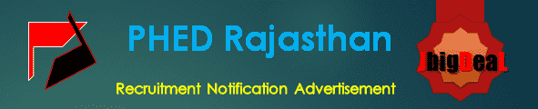 PHED Rajasthan Recruitment 2016 Online Application Form