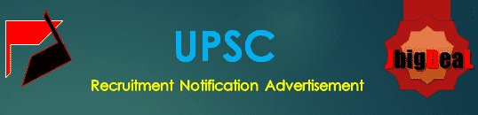 UPSC Recruitment 2018 Online Application Form