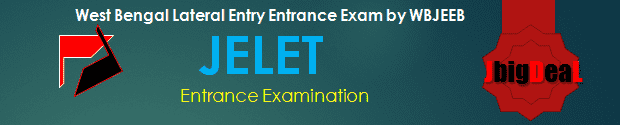JELET 2019 West Bengal Lateral Entry Entrance Exam by WBJEEB