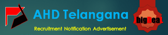 AHD Telangana Recruitment 2017 Application Form