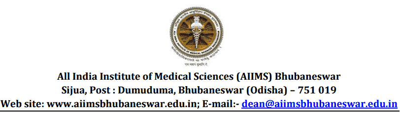 AIIMS Bhubaneswar Recruitment 2018 Application Form
