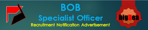 BOB Specialist Officer Recruitment 2016 Online Application Form