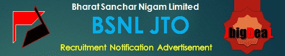 BSNL JTO Recruitment 2017 Online Application Form