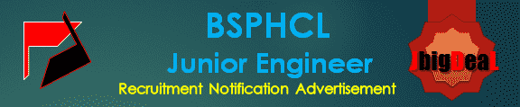 BSPHCL Junior Engineer Recruitment 2016 Online Application Form