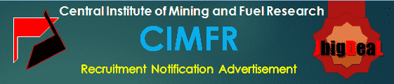 CIMFR Recruitment 2018 Application Form