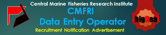 CMFRI Data Entry Operator Recruitment 2016 Application Form