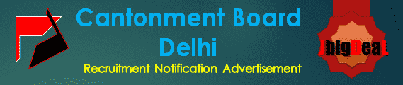 Cantonment Board Delhi Recruitment 2017 Online Application Form