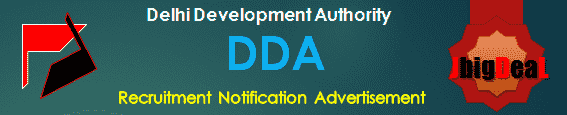DDA Recruitment 2019 Online Application Form