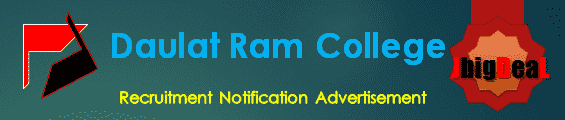 Daulat Ram College Recruitment 2017 Online Application Form