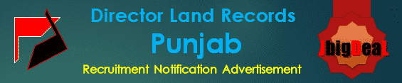Director Land Records Punjab Recruitment 2016 Online Application Form