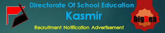 Directorate Of School Education Kasmir Recruitment 2017 Application Form