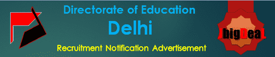 Directorate of Education Delhi Recruitment 2017 Online Application Form