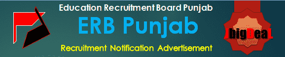 ERB Punjab Recruitment 2018 Online Application Form