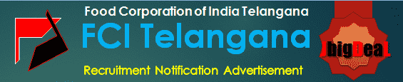 FCI Telangana Recruitment 2017 Online Application Form