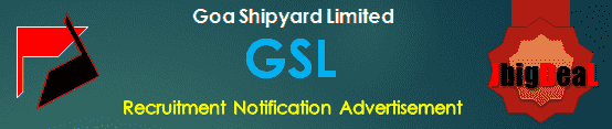 Goa Shipyard General Manager (Commercial) Recruitment 2020 Online Application Form