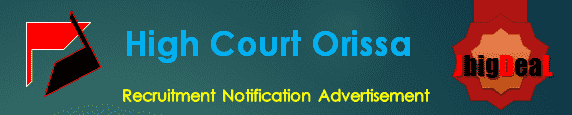 High Court Orissa Recruitment 2017 Application Form