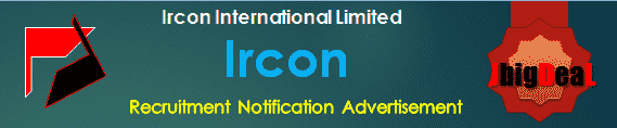 Ircon Recruitment 2018 Online Application Form