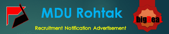 MDU Rohtak Recruitment 2018 Online Application Form