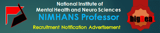 NIMHANS Professor Recruitment 2016 Application Form