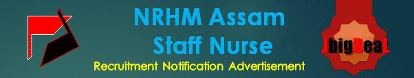 NRHM Assam Staff Nurse Recruitment 2016 Online Application Form